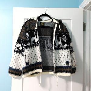 Alpaca Wool Hooded Sweater - Unisex